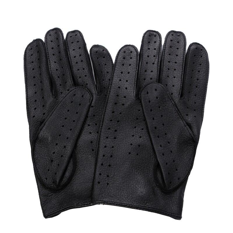 Free shipping 2019 New Men Deerskin Fashion Trend Luxury Genuine Leather Man Gloves Driving Mitten Slip Gloves