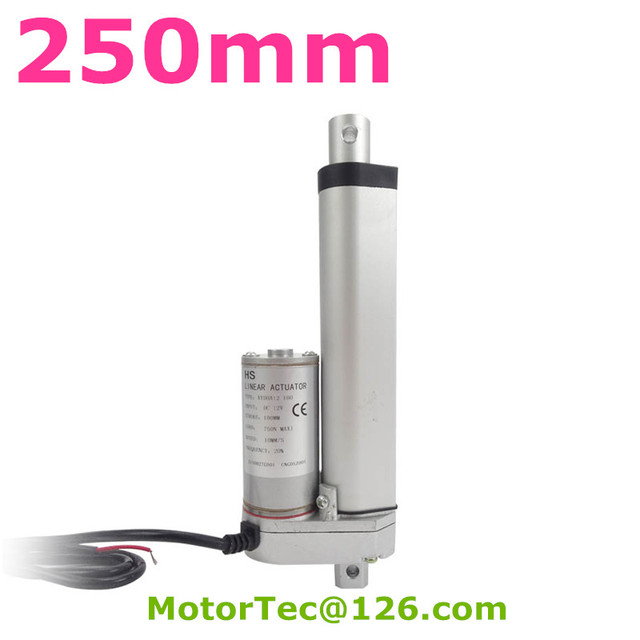New 250mm stroke 100mm/s speed 1500N 150KG load capacity heavy duty 12V 24V hydraulic linear actuator