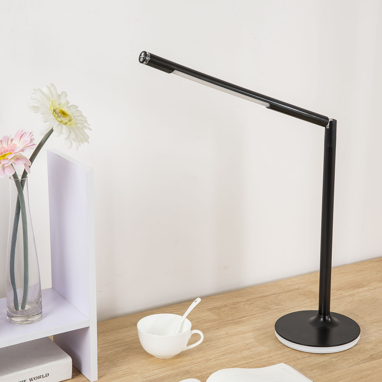 LED Desk Lamp With USB Charging Port Eye- Care Dimmable Lamp 3 Color Temperatures  LED Creative Gift Table Lamp