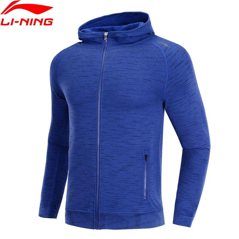 Li Ning Men Running Series Hoodie Slim Fit Cotton Viscose Polyester Spandex LiNing Comfort Sports Sweater