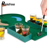 Stainless Glasses Gifts Desktop Bar Wine Game Golf Drinking Game Mini Enjoyment Golf Table Game Interesting Family Indoor