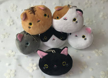 Super CUTE 6Designs - Gift Cats 7CM Plush Stuffed TOY doll , Kid's Party Small keychain Cat Toy Pendant Gift plush TOY DOLL(China)