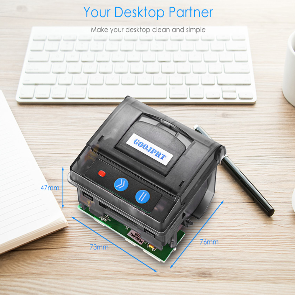 GOOJPRT QR203 Portable 58mm Mini Embedded Micro Receipt Barcode Thermal Printer RS232 / TTL USB Panel Compatible With EML203-CH(China)
