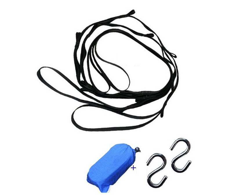 Hammocks swing tree rope sling hanging heavy hook kit, safer locking carabiner hook into the catch bags + outdoor camping,hiking