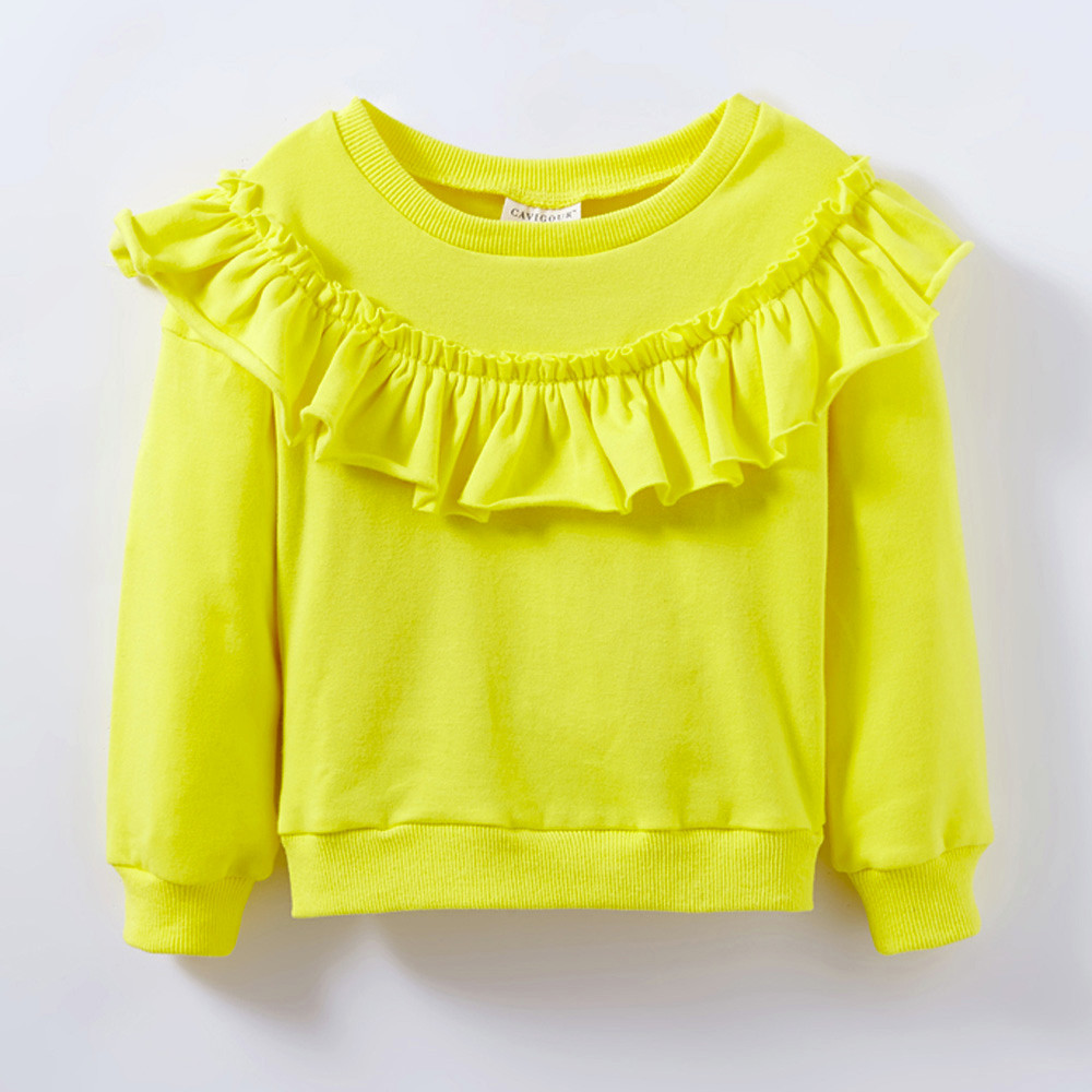 Baby Girls Long Sleeve Solid Soft Toddler Kids Tops T-Shirt Warm Clothes Oct 23