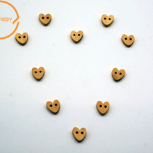Новое поступление 50 шт. Kawaii сердце деревянные пуговицы, аксессуары для шитья декоративные пуговицы скрапбукинг ручной работы DIY 10 мм