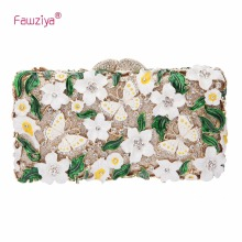 Fawziya Purses Woman Leather Butterflies And Flowers Clutch Purses For Womens Purses And Handbags