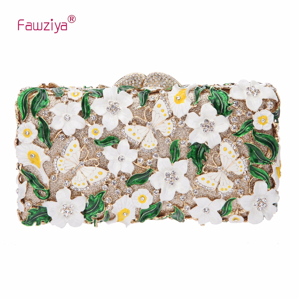 Fawziya Purses Woman Leather Butterflies And Flowers Clutch Purses For font b Womens b font Purses