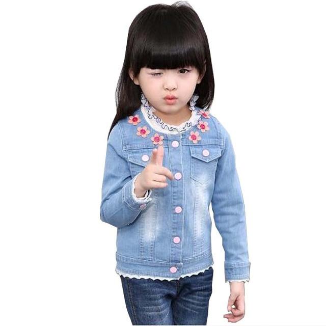 9c18eacd7f4 1 3 -7 Y Spring little Kids clothes child jacket baby girl outerwear coat girl's  jackets denim kids tops jeans wear denim jacket