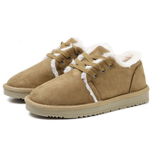 Simple classic warm wear-resistant winter womens shoes new Korean version of the cotton flat bottom with women snow boots