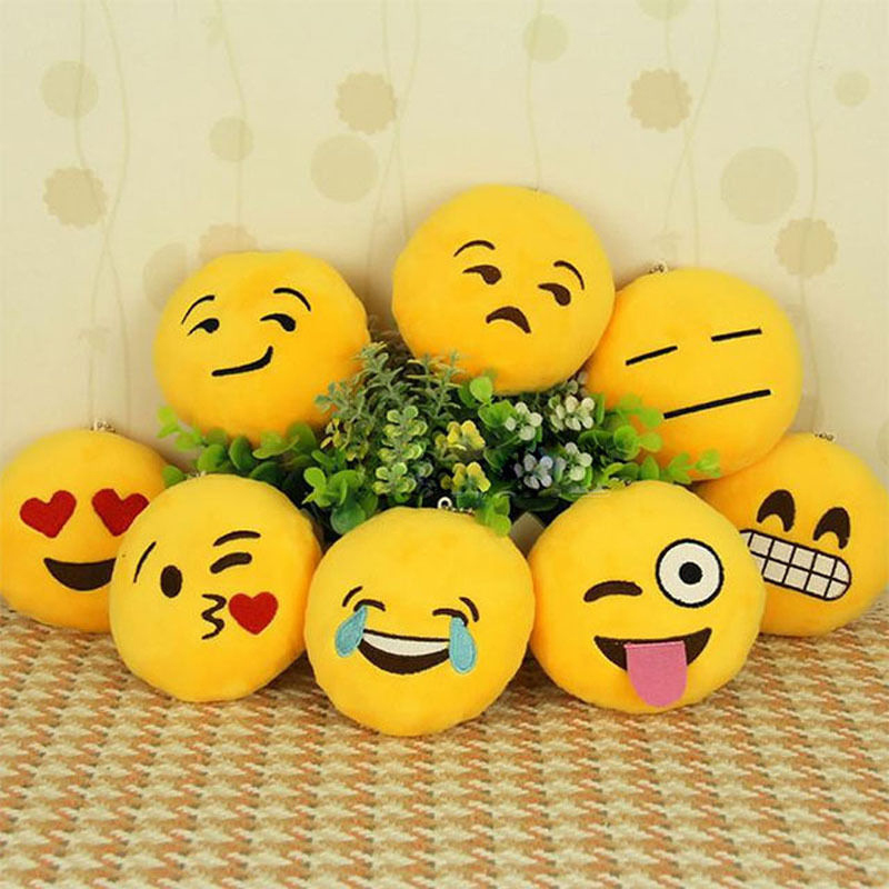 Cushion: 6 Styles Soft Emoji Pillow Smiley or Poo Shape Cushion Pillows Funny Stuffed Bolster Cushions