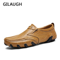 GILAUGH New Arrival Leather Loafers Men Casual Shoes Fashion Driving Flats Comfortable Slip On Handmade Men