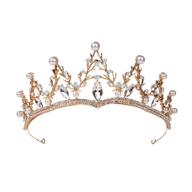 Elegant Pearl Embedded Tiara