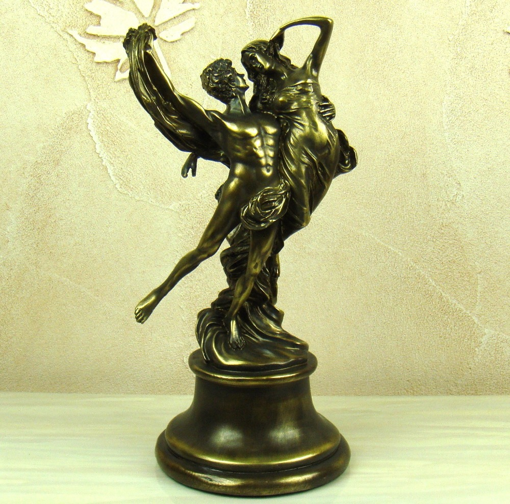Home Decoration And Furnishing Articles Couple Characters: Antique Greece Lovers Character Statue European Resin