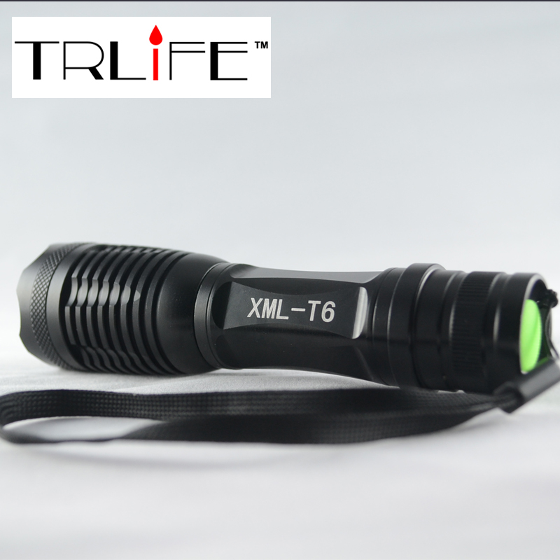 LED CREE XM-L T6 Flashlight 3800LM Torch Zoom Tactical Camping Light Outdoor Lighting 3xAAA 1x18650 - Travellife store