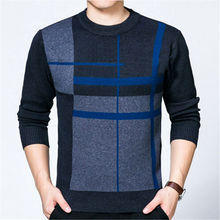High quality 2017 Winter Men Sweater O-neck Long sleeve Pullovers Brand Casual Slim Jumpers Male Clothing Knitwear plus size