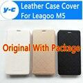 Leagoo M5 Дело 5.0 Дюймов Высокое Качество 100% Оригинал Протектор Откидную Крышку Кожаный Чехол Для Leagoo M5 Смартфон