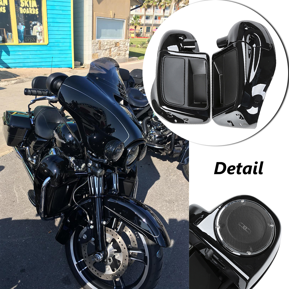 Covers & Ornamental Mouldings Motorcycle Accessories & Parts Helpful Black Audio Fairing Lower Speaker Kit For Harley Electra Road Street Glide Standard Flhtc Flhx Fltrx Flhtcutg Flhr 06-13 Outstanding Features