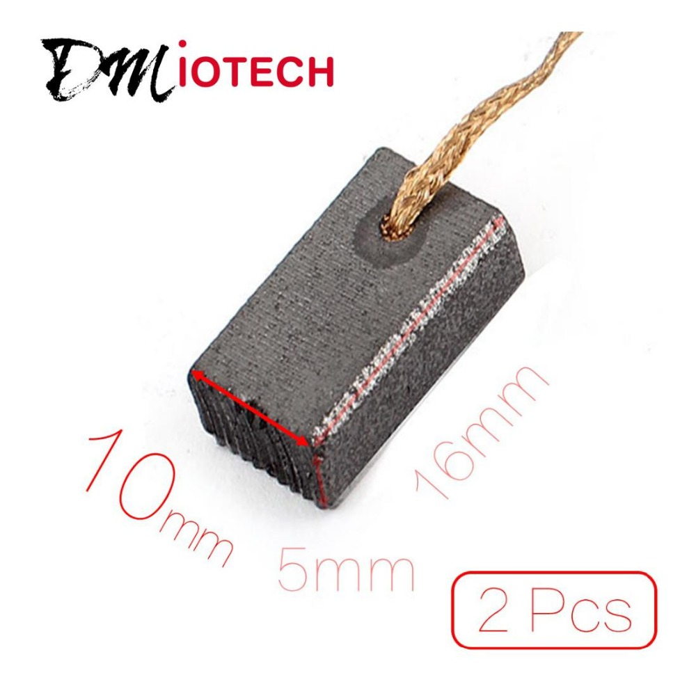 2 Pcs/lot 16mm x 10mm x 5mm (L*W*H) Motor Carbon Brushes for Electric Drill Discount 50