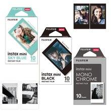 Оригинальная монохромная пленка Fujifilm Fuji Instax Mini, монохромная/черная/небесно голубая пленка, 30 шт. для Mini 8 70 8 Plus 90 25, камера, SP 1