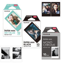 Genuine Fujifilm Fuji Instax Mini Film Monochrome Mono/ Black / Sky Blue Film 30 pcs for Mini 8 70 8 Plus 90 25 Camera SP 1 SP 2