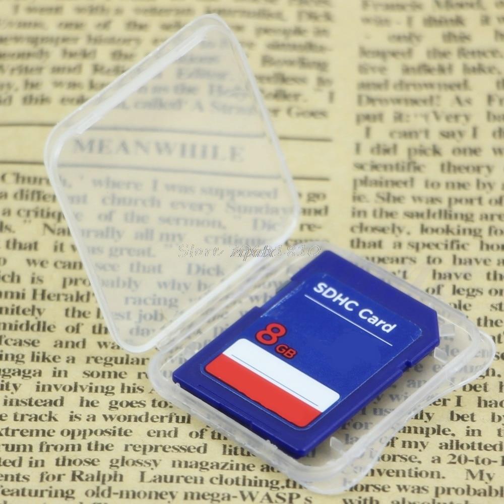 10Pcs Standard SD SDHC Memory Card Case Holder Box Storage Transparent Plastic Whosale&Dropship