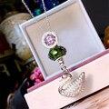 Designer de Moda 925 Sterling Silver Jewelry Platinadas 3A Cubic Zirconia Colar Partido