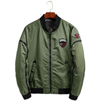 MORUANCLE Spring Autumn Men S Flight Bomber Jackets Fashion Baseball Jacket For Man Mandarin Collar Long