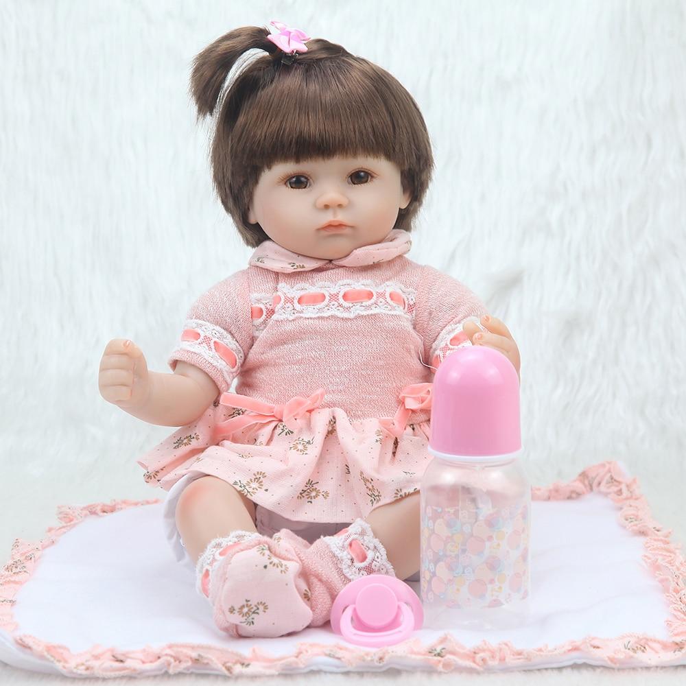 18 Handmade dolls reborn silicone Real dolls reborn dolls baby girl children s gift toys