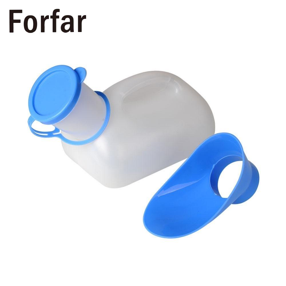 Forfar New Portable Mobile Urinal Toilet For Car Outdoor hiking Camping equipment Travel Male Female Urine Bottle survival kit