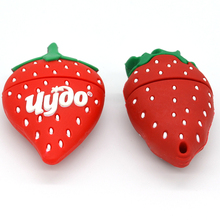 Funny fruit cute pendrive strawberry usb flash drive