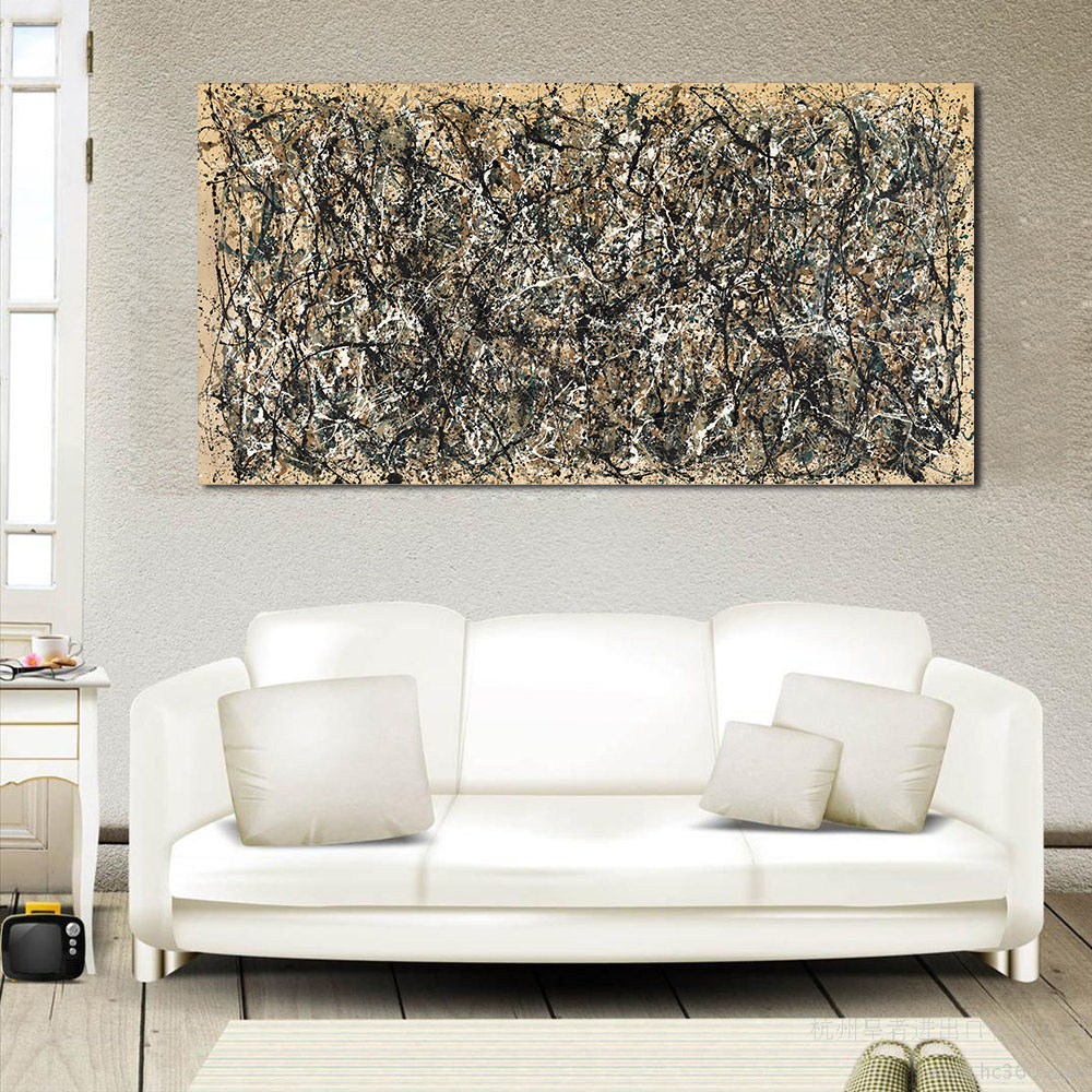 WANG ART Large Scale Abstraction Wall Art Picture Home Decor Canvas Print Painting Living Room Modern