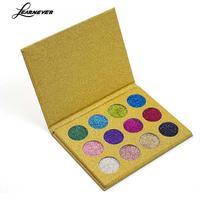 12 màu Phấn Mắt Pallete Long Lanh Ép Bột Kim Cương Make Up Gói Màu Vàng Eyeshadow Palette Vẻ Đẹp Mỹ Phẩm Bóng M04804