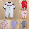 Baby clothing 100% cotton soft newborn boy romper long sleeve cartoon infant girl jumpsuit feet cover new baby clothes