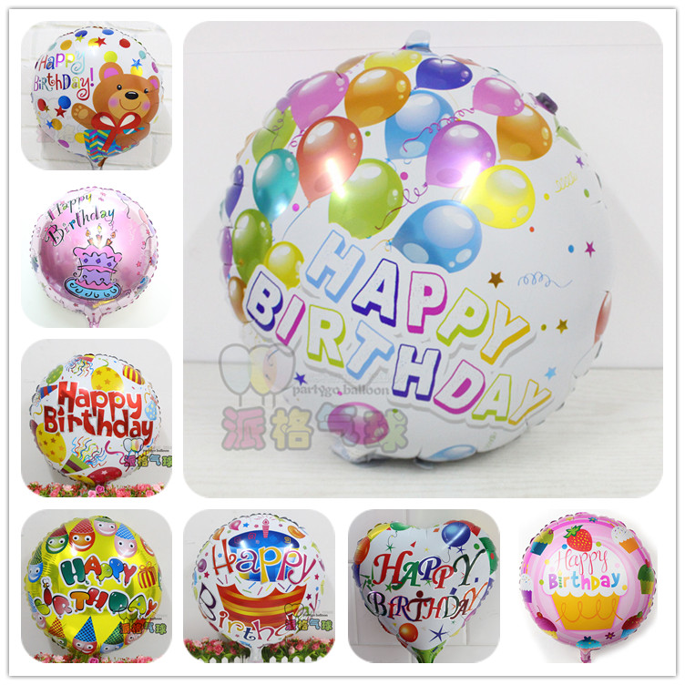 Mixed! 50pcs Globos batch happy birthday balloons aluminium foil balloons helium