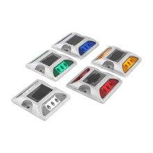 Садовые светильники из алюминиевого сплава на солнечной батарее светодиодная подсветка Спайк-свет Высокопрочный водонепроницаемый дорожный свет красный/желтый/белый/зеленый/синий