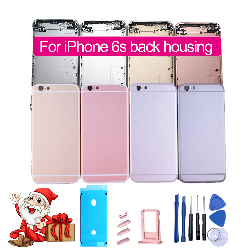 Chassis iPhone 6s Housing-Assembly Back-Cover Metal-Frame-Battery IMEI for Rear-Door