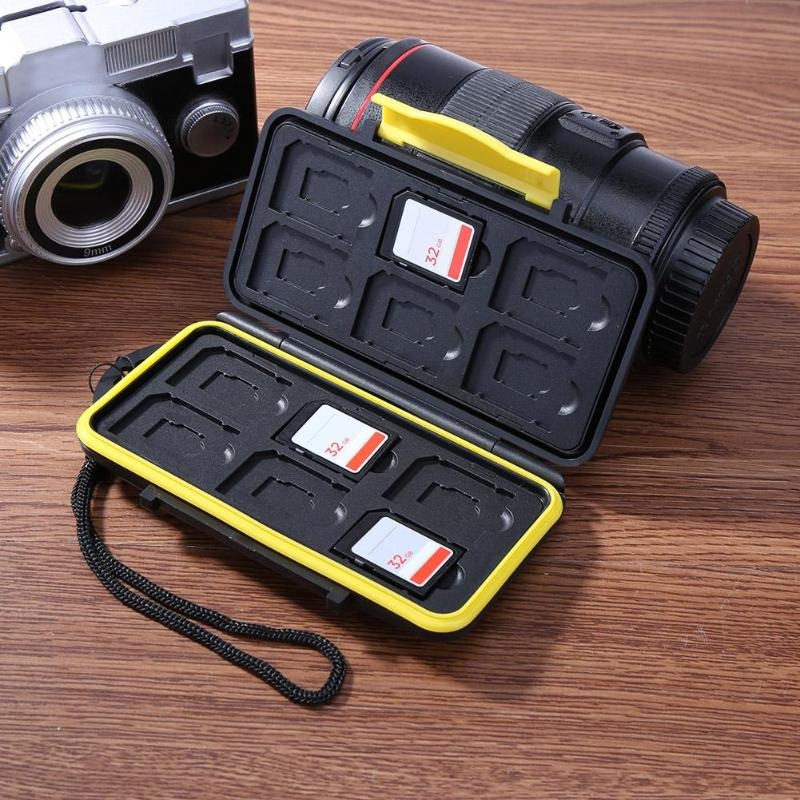 Box-Cases Storage-Holder Memory-Card-Case 12SD Waterproof Sdxc/tf-Cards Anti-Shock 12tf-Capacity
