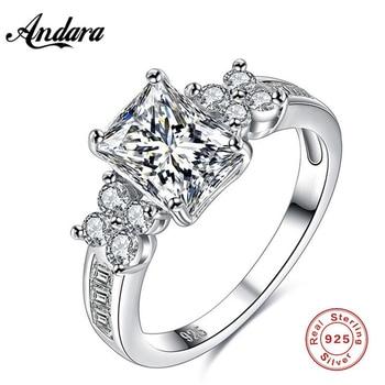 aac440169be0 Nuevo caliente de las mujeres anillo de compromiso joyería de piedra de  Gema sólida del encanto