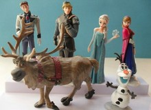 6pcs/lot 10cm Cartoon PVC Action Figures Anna Elsa Olaf Sven Kristoff Hans Anime Figurines Juguetes New Arrival Hot Toys