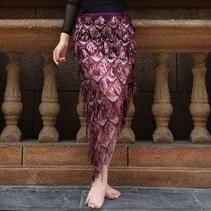 Image 5 - חדש ציצית ריקודי בטן היפ צעיף לאישה ריקודי בטן חצאיות לאישה מזרחי ריקוד תלבושות צעיף ירך ריקודי בטן