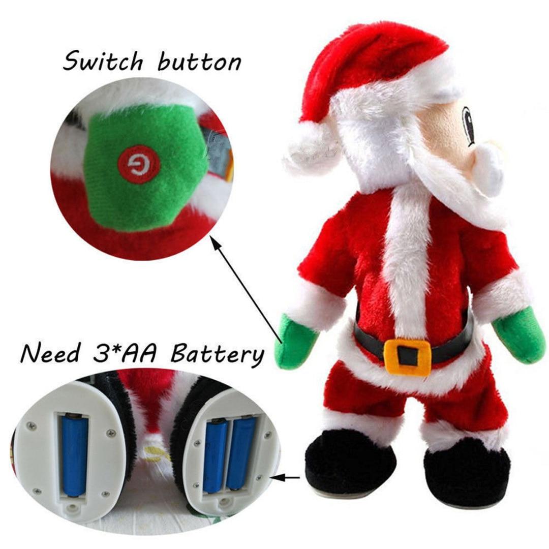 JX-LCLYL Elektrische Weihnachten Santa Claus Abbildung Verdreht ...