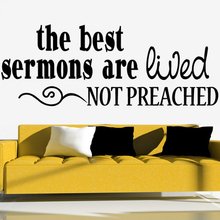 Stickers The Best Sermons Religion Quote Vinyl Wall Decal Church Home Decor Living Room Poster House Decoration