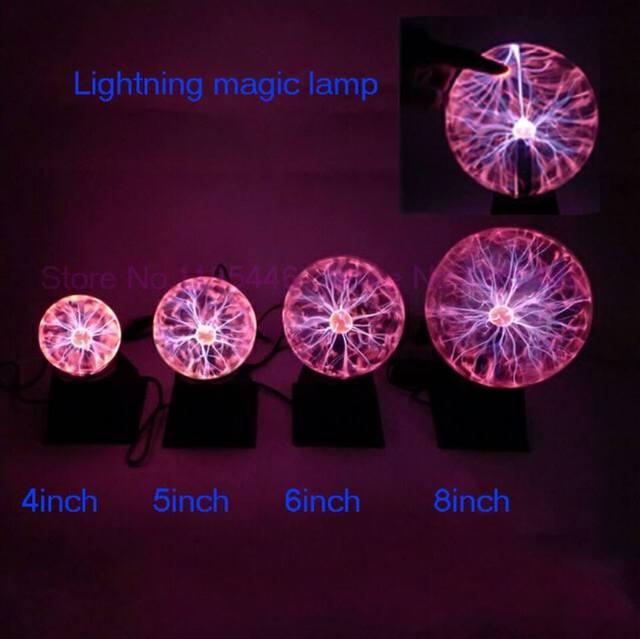 4 5 6 8 polegada de som mágico brilho da lâmpada bola de plasma lâmpada bola de cristal eletrostática bola mágica para purificar o ar de ktv novelty Nighting