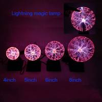 8 Sound Magic Lamp Glow Ball Lightning Ball Plasma Ball Electrostatic Crystal Magic Ball