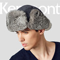 Kenmont Unisex Men Women Winter Real Natural Rabbit Fur Russia Trapper Aviator Bomber Hat Ski Cap 2311