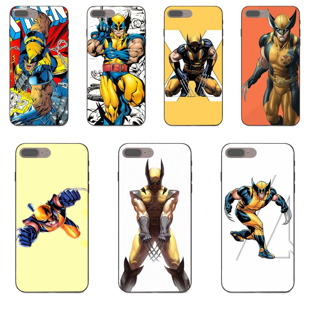 For Apple iPhone 4 4S 5 5S SE 6 6S 7 8 Plus X XS Max XR Soft Print Phone Wolverine Marvel Comic X Man image