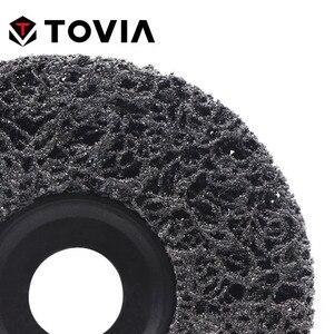 Image 4 - TOVIA disco abrasivo abrasivo 115mm Poly Strip Disc Grinder Wheel rimuovi ruggine vernice auto 125mm disco abrasivo per smerigliatrice angolare