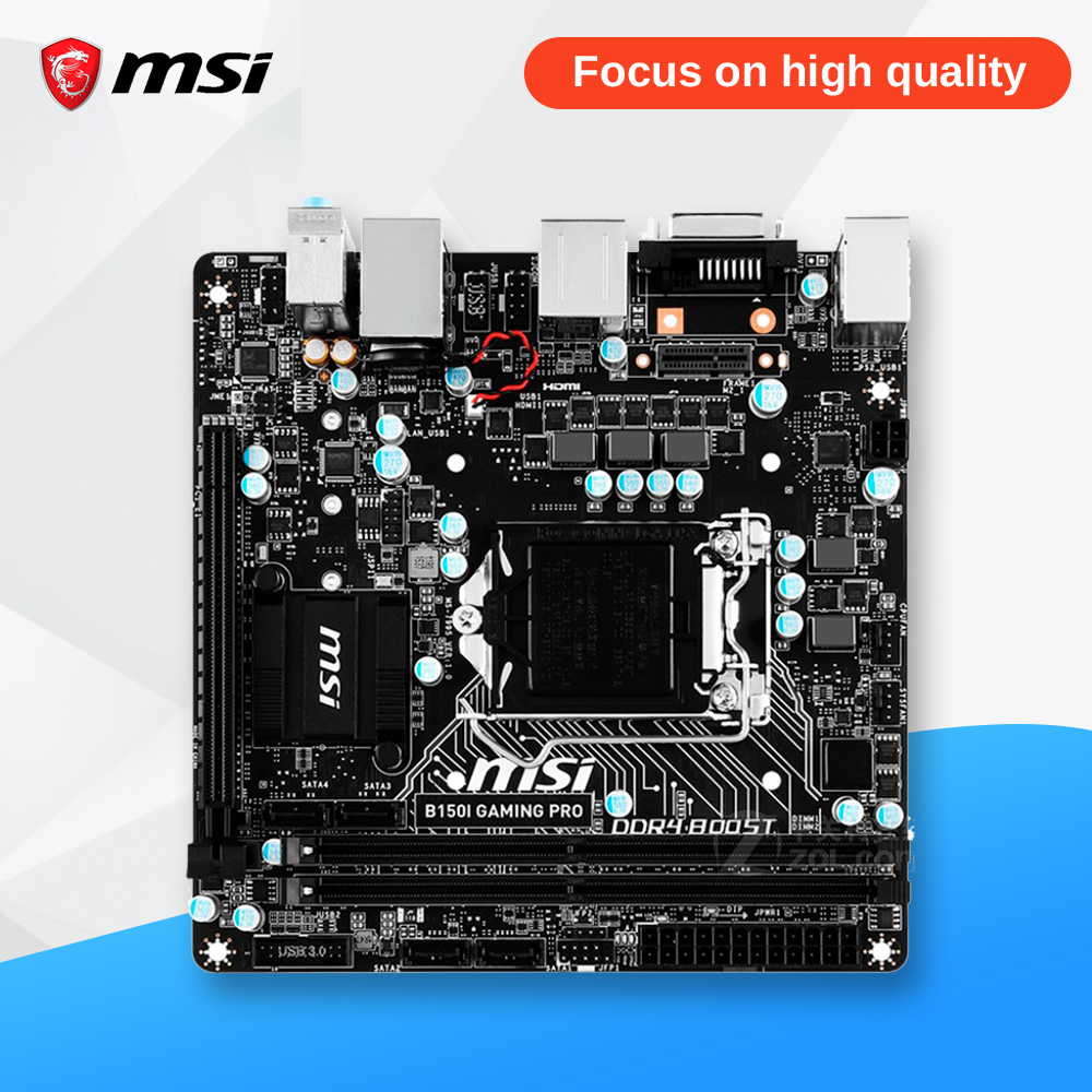MSI B150I Gaming Pro Оригинальный Новый рабочего Материнская плата B150 разъем LGA 1151 i3 i5 i7 DDR4 32 г SATA3 мини -ITX