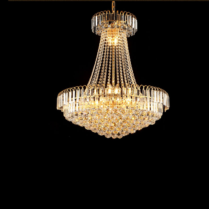 Luxury royal empire golden europen crystal chandelier large luxury royal empire golden europen crystal chandelier large contemporary lighting french style hotel lobby design in chandeliers from lights lighting on aloadofball Choice Image